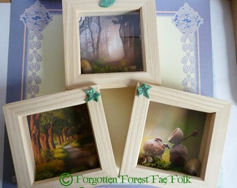 Set of 3 forest scenes