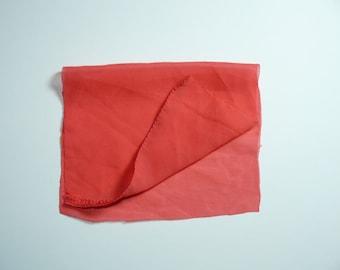 Textile Fabric Tango Tangerine Design, Handmade Textile Trim Supplies, Shabby Chic Applique