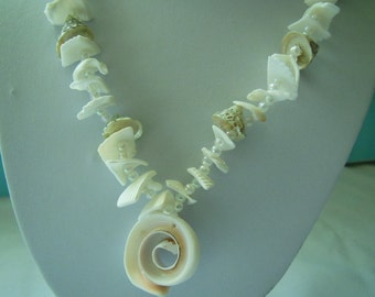 Natural Shell Necklace Long Shell Necklace White
