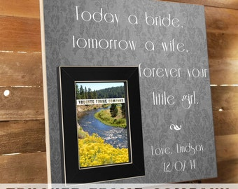 Wedding Thank You, Parents of the Bride Gift, Parents of the Groom Gift, Parent Thank You, Mother of the Bride, Father of the Bride 16x16