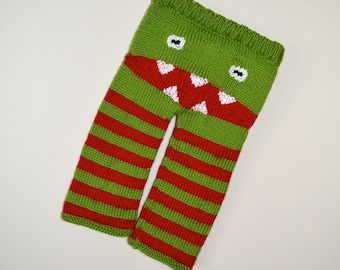 Children's Unisex Hand Knit Monster Booty Pants - Ready To Ship