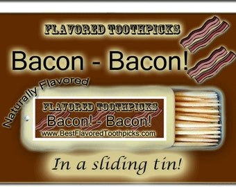 Bacon Flavored Toothpicks - 70+ Flavors! Stocking Stuffer For Men, Christmas Stocking Stuffers, For Him, His Gift, Boyfriend, Gifts, Male