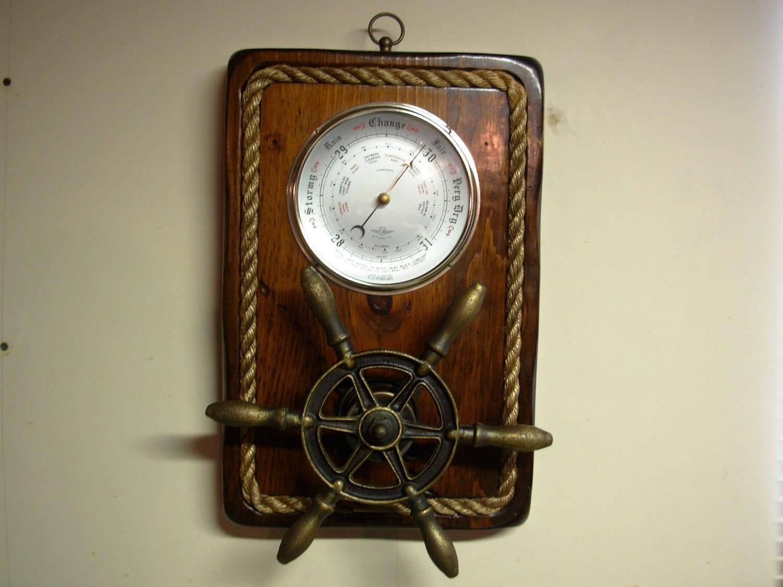 Vintage Nautical Wall Decor: Vintage Nautical Wall Decor Barometer & By