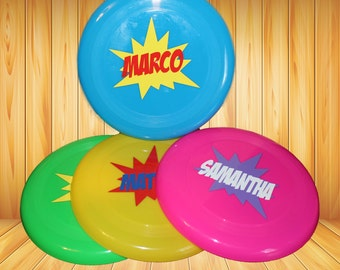 Personalized frisbees - party favors