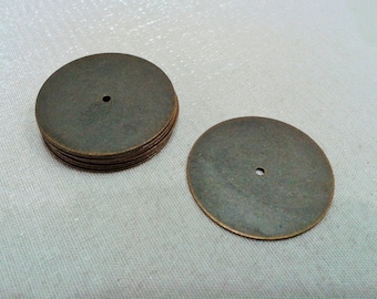 20 Pcs Antique Brass 25 mm Round Disc , Stamping Tag