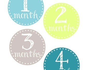 Milestone Stickers, Baby Month Stickers, Monthly Stickers, Monthly Baby Sticker, Baby Shower Gifts, Baby Month Sticker Boy, Chalk, B13