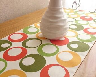 Colorful Table Runner, Modern Table Runner, Colorful Table Cover,Handmade Table Runner