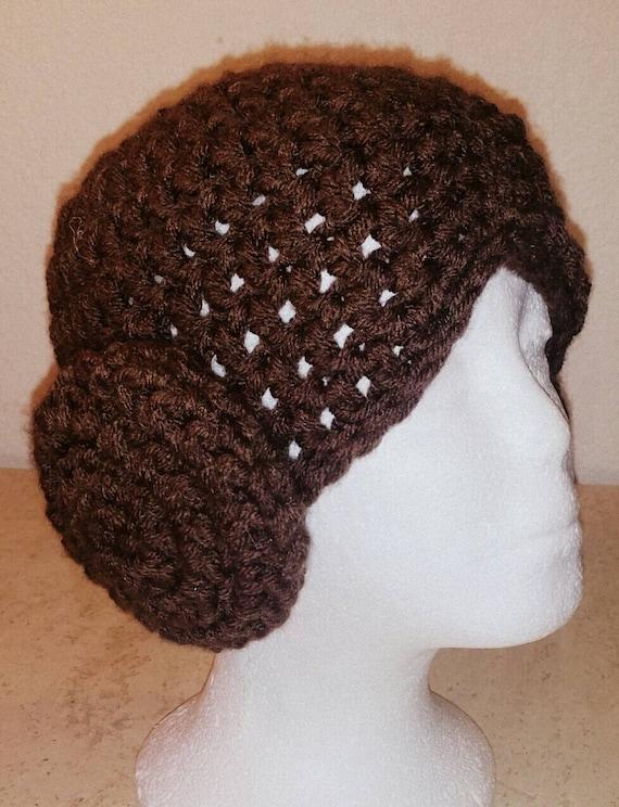 Crochet Pattern Princess Leia Hat : Princess Leia Wig - Princess Leia Crochet Hat - Star Wars Hat