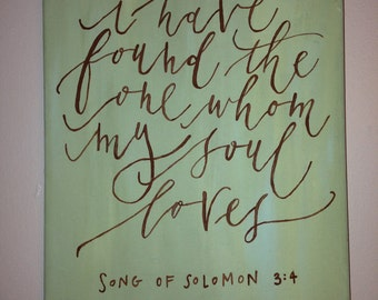 song of solomon • canvas