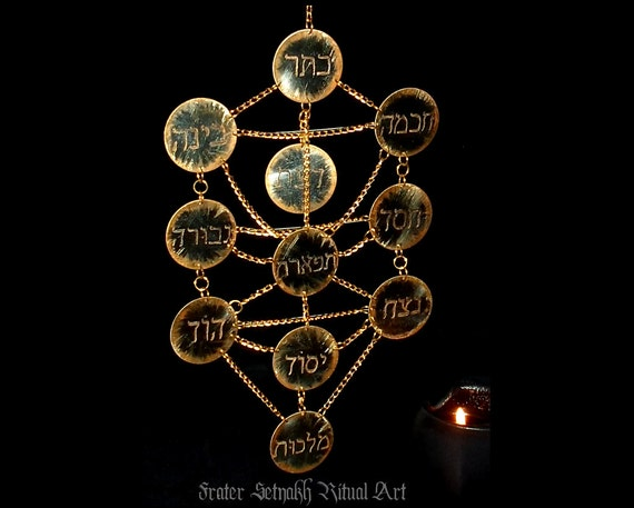 Tree Of Life Decoration Sephiroth Pendant Kabbalistic Art Wall Decor Magick And