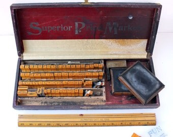 Superior Sign Marker Set from 1920's-30's