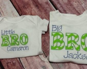 Big bro little bro applique shirt