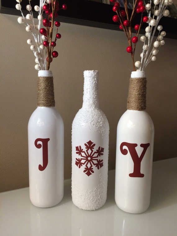 Joy Wine Bottles Christmas By
