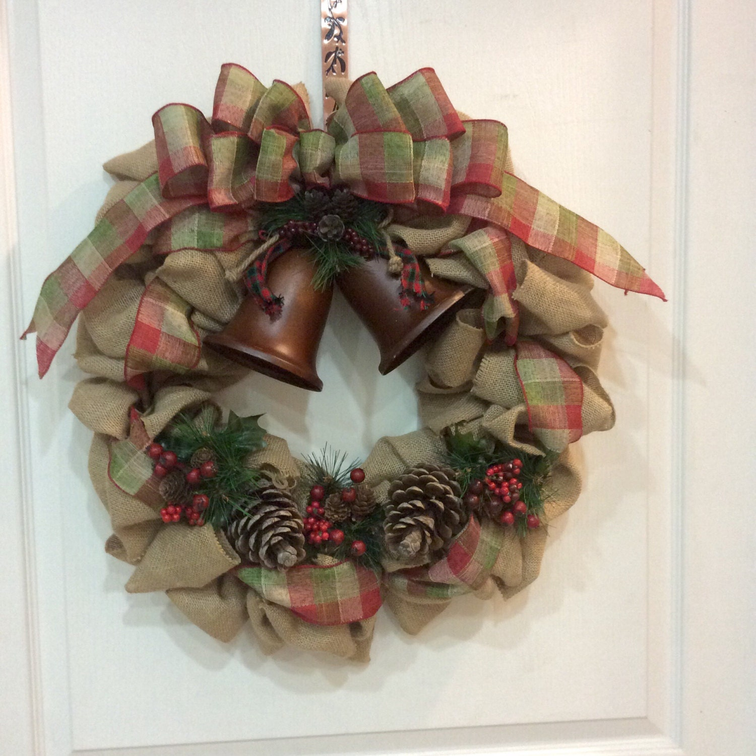 Burlap christmas wreath christmas door wreath by Burlap xmas wreath