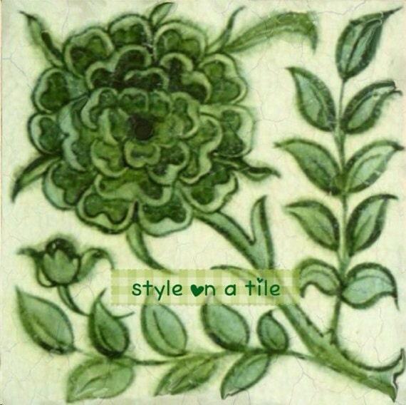 lovely william de morgan green rose wooden coaster mat. Black Bedroom Furniture Sets. Home Design Ideas