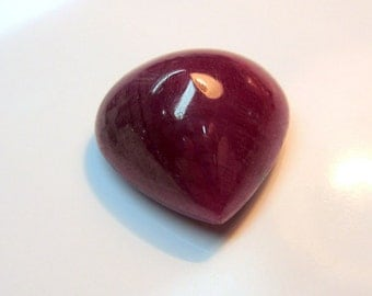 21mm 100% Natural Ruby Gemstone Heart Shape Cabochon 38.50cts for Jewelry