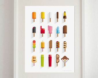 Ice cream from my childhood Art Print - A3