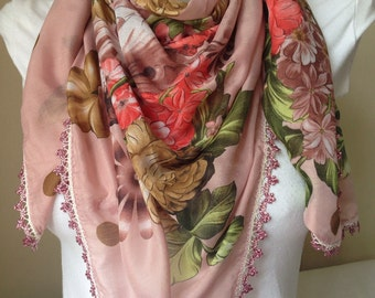 Fabric Scarf in Powder Pink,Traditional Scarves