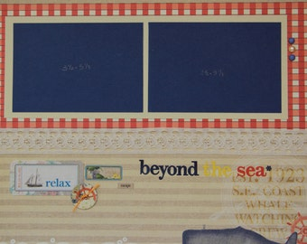 Beyond the Sea 12x12 Premade Scrapbook Page