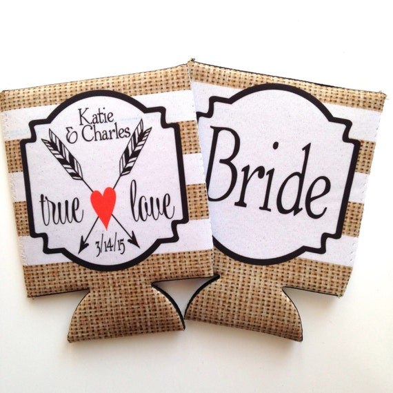 Wedding Shower Gifts For Bride And Groom : Wedding Bride and Groom Huggers. Wedding Shower gifts! Personalized ...