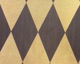 Black and Gold Harlequin  Drapery Fabric - Drapery Fabric By The Yard