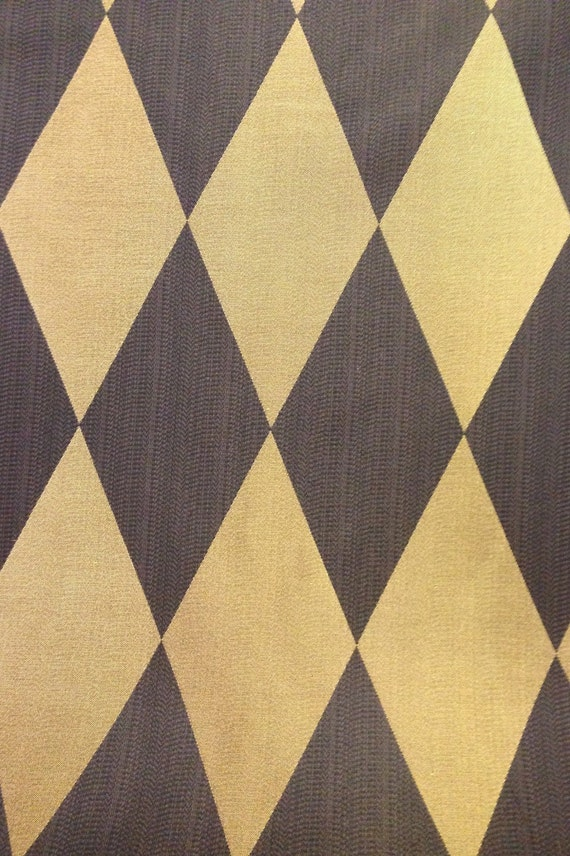 Black And Gold Harlequin Drapery Fabric Drapery Fabric By