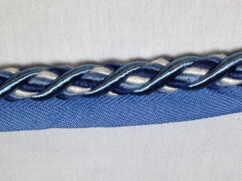 navy braided rope trim decorative cord pillow trim. Black Bedroom Furniture Sets. Home Design Ideas