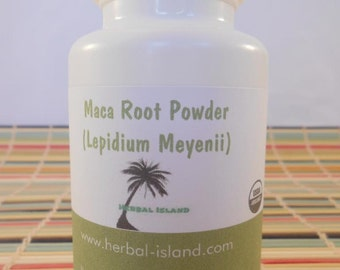 Maca Root Powder Capsules - Organic (500mg Each Capsules)