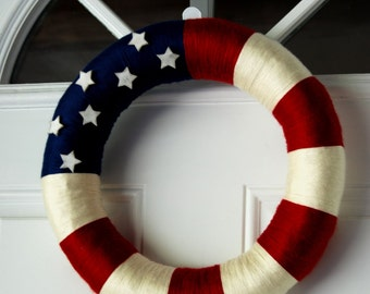 Wrapped Patriotic Wreath