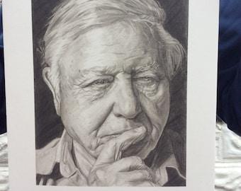 David Attenborough Limited Edition Fine Art Giclée Print