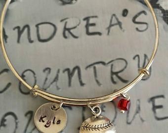 Baseball/Softball bangel bracelet