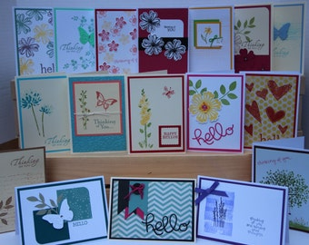 Hello and Thinking of You Cards.  Assortment Set of 10 Handmade Greeting/ Note Cards