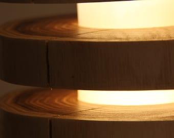 Wooden floor lamp - floor lamp made of wood LED RGBWW