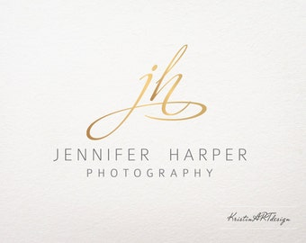 Gold logo- Initials logo - Logo design - Photography Logo - Customized for ANY business logo - Premade Photography Logos- Watermark 180