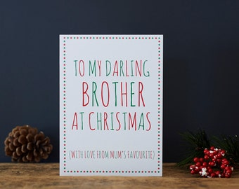Darling Brother Christmas card