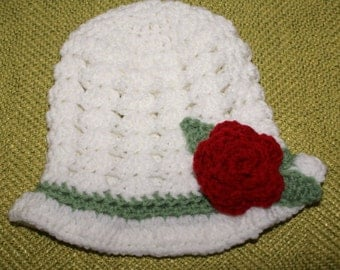 White Easter/Spring/Summer Hat Size 12-24 Months