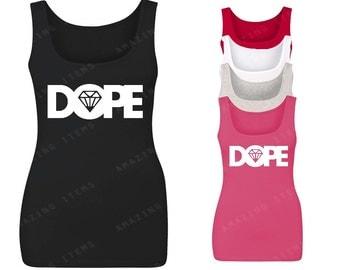 Dope Diamond White Women's Tank Top Fashion Tank Tops
