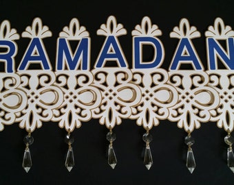 Eid/ Ramadan Stylish Banner with Glass Crystals