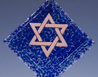 Suncatcher- Star of David, Blue