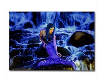 Moon Mermaid Gazing Photo Magnet