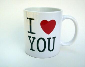 I LOVE YOU Ceramic Coffee Mug