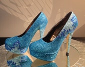 Frozen Elsa inspired High Heel Shoes
