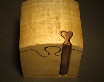 Proposal Ring Box, Ring Box, Puzzle Box, Engagement Ring Box, Solid Wood box