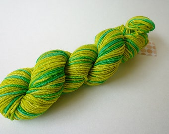 Hand Dyed Yarn - Mini Skein Sock Yarn - Superwash Merino Wool - Green