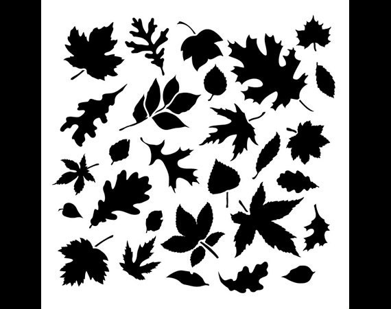 Fall Leaves-Pattern Stencil-Select Size SKU: STCL707 By