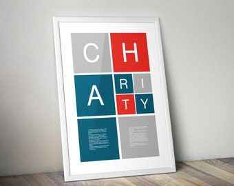 Helvetica Poster | Charity | Color