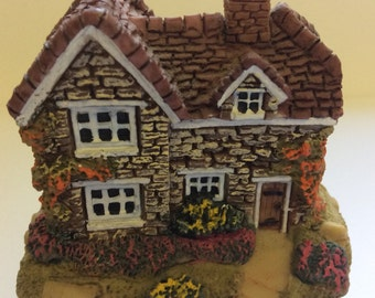 Leonardo Collection Miniature Cottage Brick cottage with shingle roof and gardens