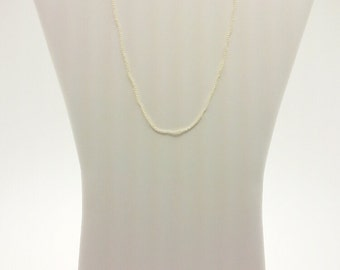 """18"""", White Freshwater Seed Pearl Necklace"""