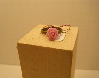 Lilac Rose Ring - Rose Ring - Lilac Ring - Flower ring