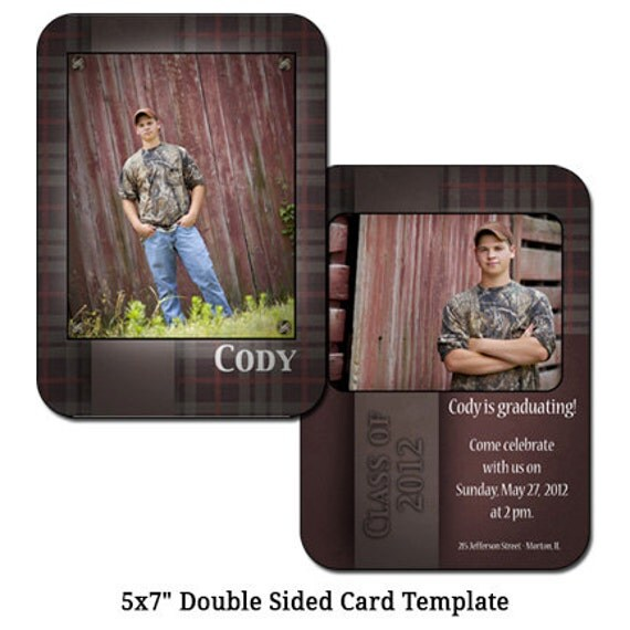 5x7 double sided card template barnwood digital file for 5x7 postcard mailing template